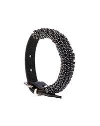 Emanuele Bicocchi - Black Bejeweled Bracelet for Men - Lyst