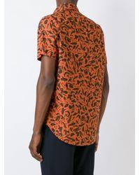 Paul Smith - Blue Brushstroke Print Shirt for Men - Lyst
