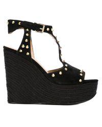 Ash | Black 'bikini' Wedge Sandals | Lyst