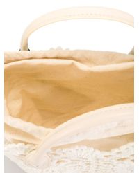Twin Set - White Crochet Detail Tote - Lyst