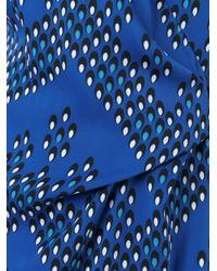 Diane von Furstenberg - Blue V-neck Wrap Dress - Lyst