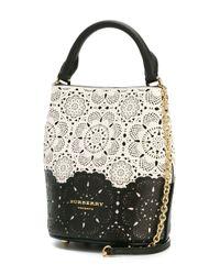 Burberry Prorsum - White Lace Cut-out Bucket Bag - Lyst