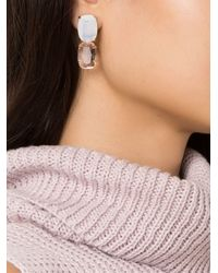 Serpui - Metallic Embellished Earrings - Lyst