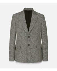 Christopher Kane - Gray Crazy Tweed Single Breasted Tailored Jacket for Men - Lyst