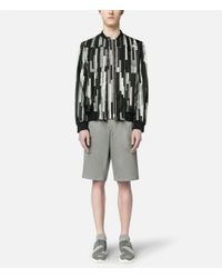 Christopher Kane - Gray Bolster Printed Grid Bomber for Men - Lyst