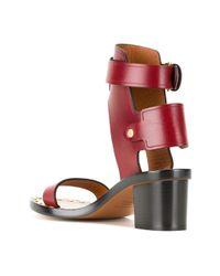 Isabel Marant - Red Étoile Jaeyrn Leather Sandals - Lyst
