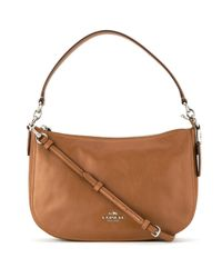 9d5297cdd9a6 Lyst - COACH 37018 Sv sd Leather fur exotic Skins- calf Leather in Brown
