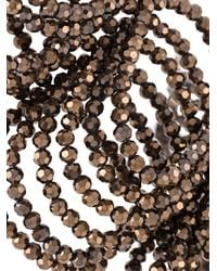 Night Market - Brown Beaded Chain Necklace - Lyst
