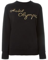 Olympia Le-Tan - Black Hotel Olympia Embroidered Sweatshirt - Lyst