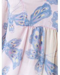 Diane von Furstenberg - Blue 'papillon Ombre Periwinkle' Blouse - Lyst