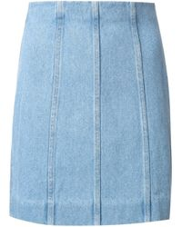 Y. Project | Blue Multi Panel Skirt | Lyst