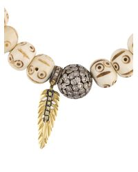 Loree Rodkin - Multicolor Beaded Diamond Charm Bracelet - Lyst