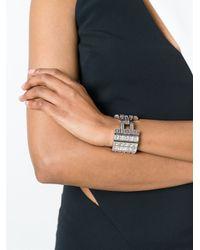 Lanvin - Metallic Embellished Bracelet - Lyst