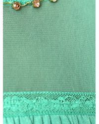 Twin Set - Green Sheer Panel Shift Dress - Lyst