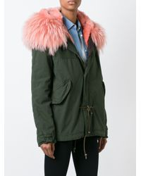 Mr & Mrs Italy - Green Chest Pocket Parka Coat - Lyst