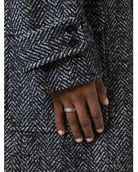 Maison Margiela | Metallic Embossed Logo Ring for Men | Lyst