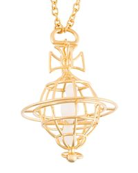 Vivienne Westwood - Metallic Logo Pendant Necklace - Lyst