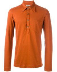 Romeo Gigli   Black Long Sleeve Polo Shirt for Men   Lyst
