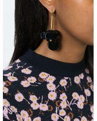 Marni - Black 'leverback' Earrings - Lyst