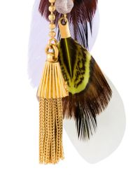 Gas Bijoux - Metallic 'sioux' Feather Earrings - Lyst