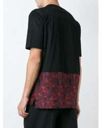 Lanvin - Black Printed Panel T-shirt for Men - Lyst