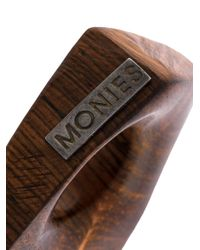 Monies - Brown 'cuban' Ring - Lyst