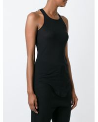 Rick Owens - Black Curved Hem Tank Top - Lyst