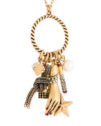 Marc Jacobs - Metallic Rope Ring Charm Necklace - Lyst