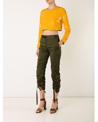 Manning Cartell - Black Sequinned Cropped Top - Lyst