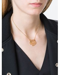 KENZO - Metallic 'tiger' Necklace - Lyst