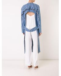 Manning Cartell - Blue Open Back Striped Coat - Lyst