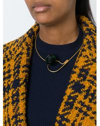 Marni - Black Sphere Pendant Necklace - Lyst