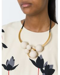 Marni - White Sphere Cluster Necklace - Lyst