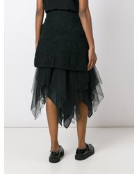 Marc Le Bihan - Black Layered Skirt - Lyst