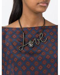 Lanvin - Metallic Iconic 'love' Necklace - Lyst