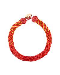 Aurelie Bidermann | Red Maya Beaded Silk Necklace | Lyst