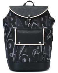 Ferragamo - Black All-over Print Backpack - Lyst