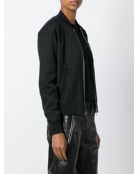 T By Alexander Wang - Black Lightweight Bomber Jacket - Lyst