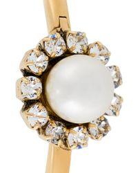 Marc Jacobs | Metallic 'crystal Flower' Hinge Cuff | Lyst