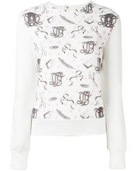 Olympia Le-Tan | Multicolor Printed Panel Sweatshirt | Lyst
