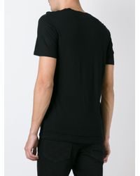 Neil Barrett - Black V-neck T-shirt for Men - Lyst