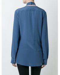 Maison Margiela - Blue Cross Front Collar Shirt - Lyst