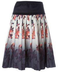 Marc Jacobs - Black Floral Degradé Print Skirt - Lyst