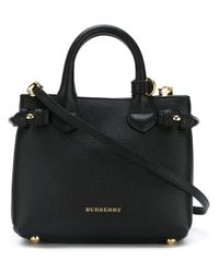 Burberry - Black Baby 'banner' Tote - Lyst