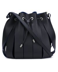 Neil Barrett - Black Paneled Leather Shoulder Bag - Lyst