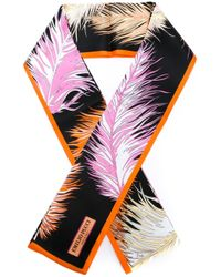 Emilio Pucci | Multicolor Feather Print Scarf | Lyst