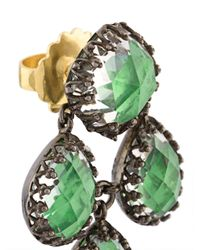 Larkspur & Hawk - Green Antoinette Girandole Earrings - Lyst