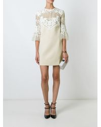 Self-Portrait - Multicolor Lace Panel Dress - Lyst