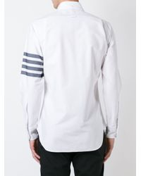 Thom Browne - Black Striped Sleeve Shirt for Men - Lyst