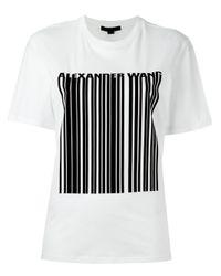 Alexander Wang   Black Welded Barcode T-shirt   Lyst